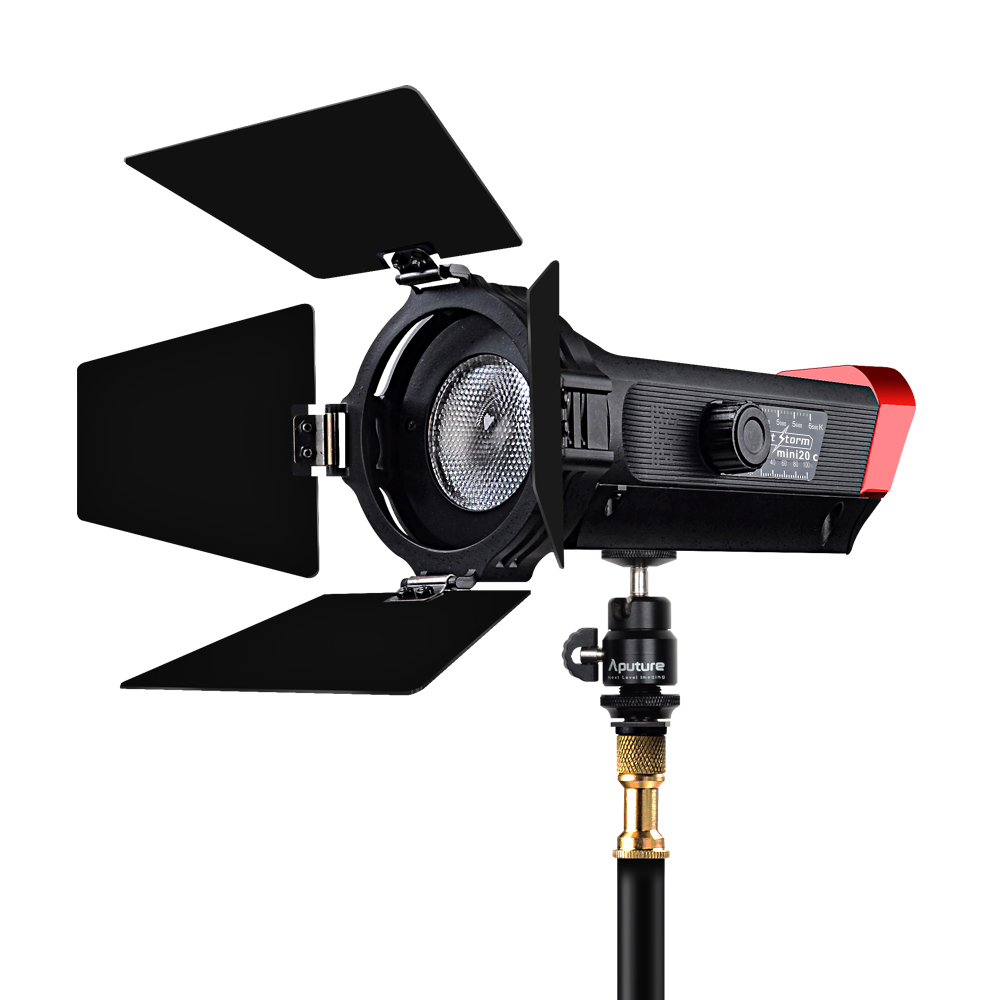 2017 Aputure LS mini 20c COB light CRI 97+ Color Temperature 3200K-6500K fresnel led video light for photography job aputure ls mini 20 3 light kit two mini 20d and one mini 20c led fresnel light tlci cri 96 40000lux 0 5m 3 light stand case