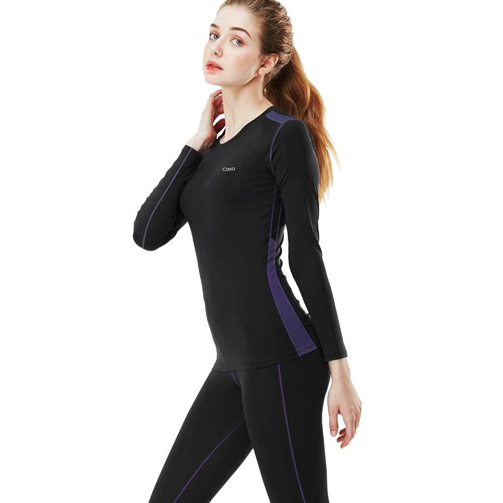 Женское зимнее нижнее белье комплект термобелье одежда Горячая-сухая технология поверхность термо нижнее белье женское длинное John