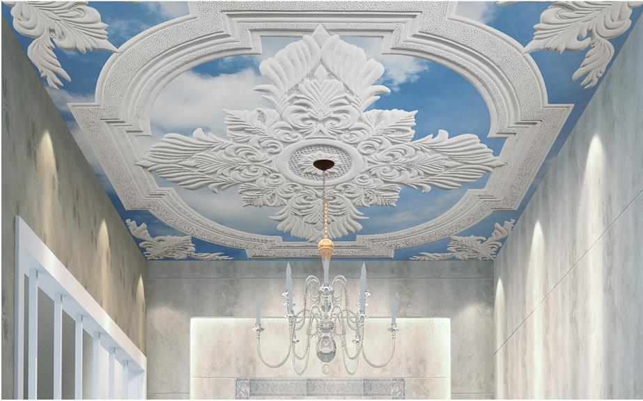 ceilings customize 3d ceiling murals wallpaper White European carved photo wall murals sky ceiling wallpapers for living room high definition sky blue sky ceiling murals landscape wallpaper living room bedroom 3d wallpaper for ceiling