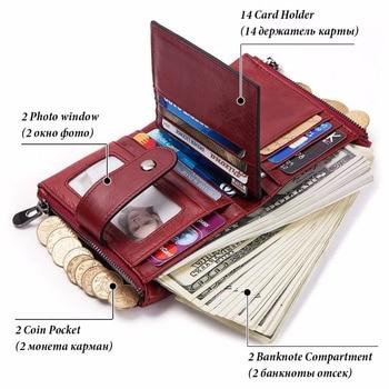 Genuine Leather Female Wallet Small Wallet Women Purse Fashion Money Wallet Women id Card Holder porte feuille femme 5