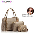 New 2015 women handbags leather handbag women messenger bags ladies brand designs bag bags Handbag+Messenger Bag+Purse 3 Sets