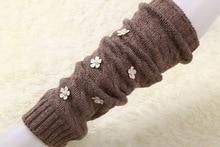 6 пар Жемчужина Цветок утолщенной вязание шерстяные носки теплые зимние гетры гетры женские ноги загрузки носок носки женские сваи(China (Mainland))