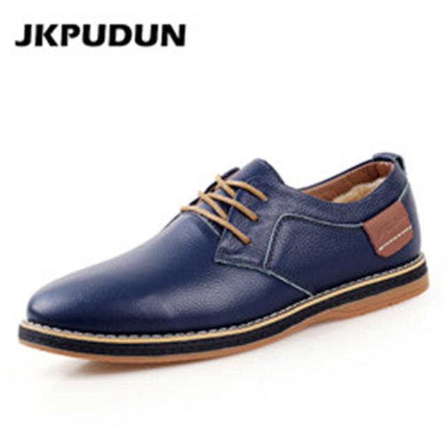 JINTOHO Italian Designer Dress Men Shoes Luxury Brand Men Flats Oxford shoes  GVT8BPAGA