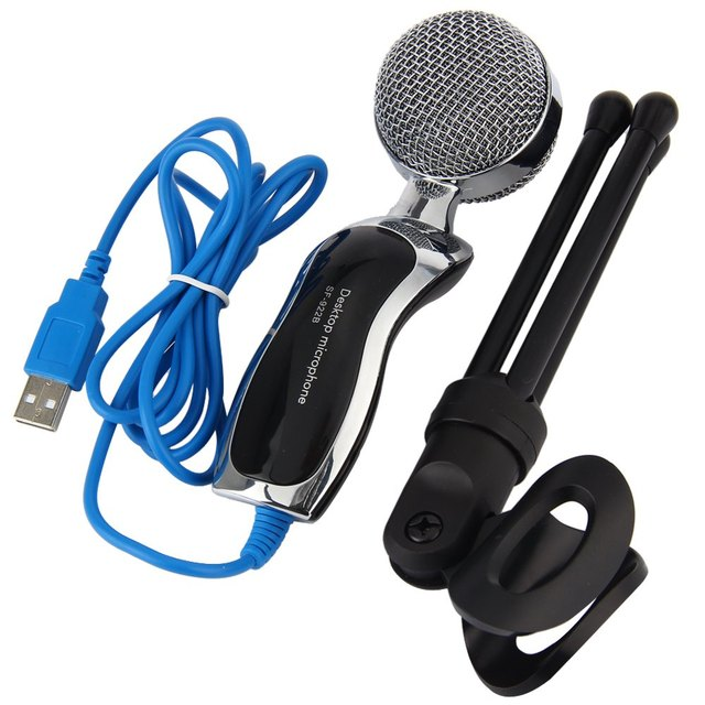 Portable SF-922B USB 2.0 Condenser Microphone Mic Studio Audio Sound  Microphone With Desktop Stand Microfone For Conference