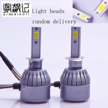 1Pair FREE SHIPPING CHEAPEST C6 H1 72W 7600LM AUTO BULB KIT LIGHTS LED font b LAMP
