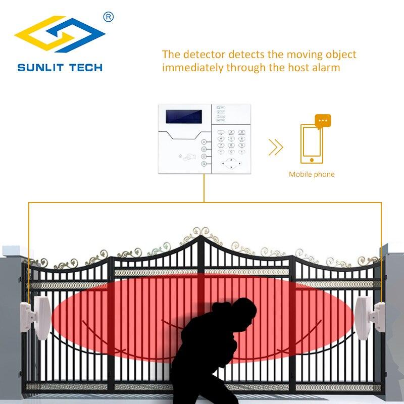 Купить с кэшбэком Dual Microwave Infrared Beam Waterproof Motion Sensor Intrusion Detector Automatic Outdoor Wall Sensor System for Home Security