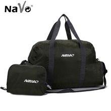 NAVO 40L Big Travel Bag Foldable Hand Luggage Bag for Men Large Capacity Folding Duffel Bag Weekend Traveling Handbag