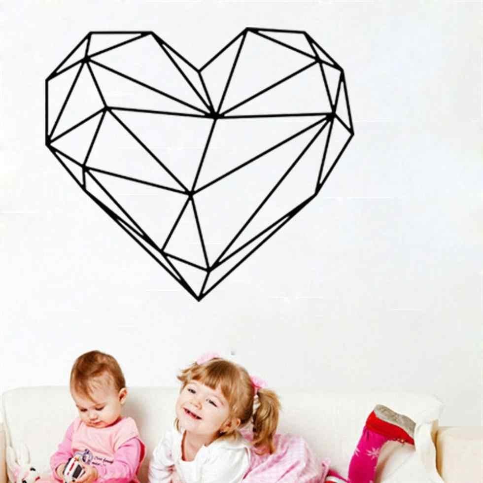Креативность в виде геометрических фигур наклейки на стену в форме сердца настенный художественный декор, спальня, детская комната украшения рисунок-Наклейка на стену съемные стенки Стикеры