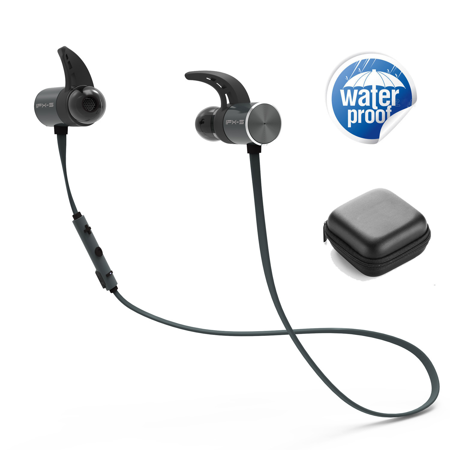 Plextone BX343 Wireless Earphone Bluetooth IPX5 Waterproof Earbuds Magnetic Headset Earphones With Microphone magnetic earbuds wireless bluetooth headset support nfc pairing two devices at one time