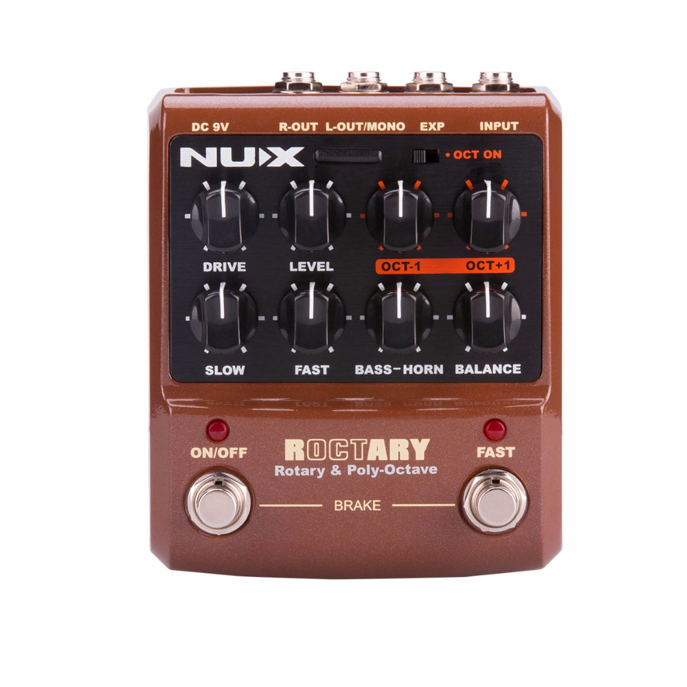 nux roctary force rotary speaker simulator guitar pedal polyphonic octave guitarra effects pedal. Black Bedroom Furniture Sets. Home Design Ideas