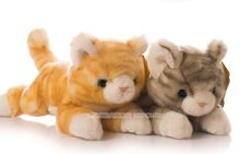 about 30cm cat ,simulation cat plush toy prone cat soft doll, high quality goods, baby toy birthday present Xmas gift c758