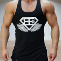 2017 Brand Casual Vest Men T-shirts Summer Cotton Fit Men Tank Tops Clothing Bodybuilding Undershirt Golds Fitness man M-2XL