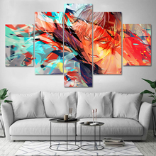 Modular HD 5 Piece Wall Art pictures Canvas poster and prints Oil Painting Cartoon animated Dragon Ball Kid for livingroom frame