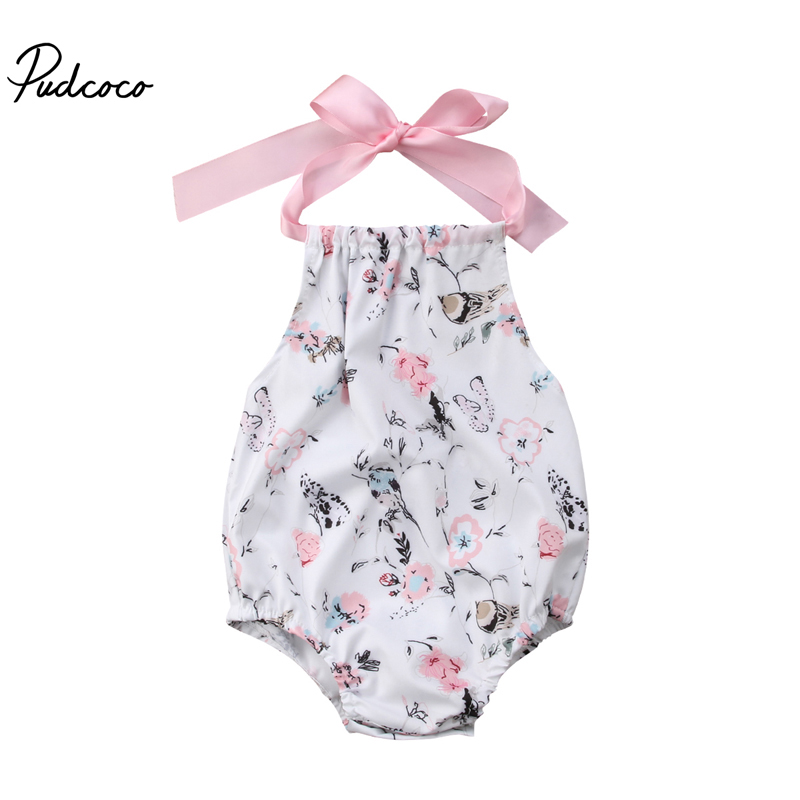 New Fashion Newborn Infant Baby Girl Romper Floral Sleeveless O-Neck Sunsuit Summer Clothes Outfits