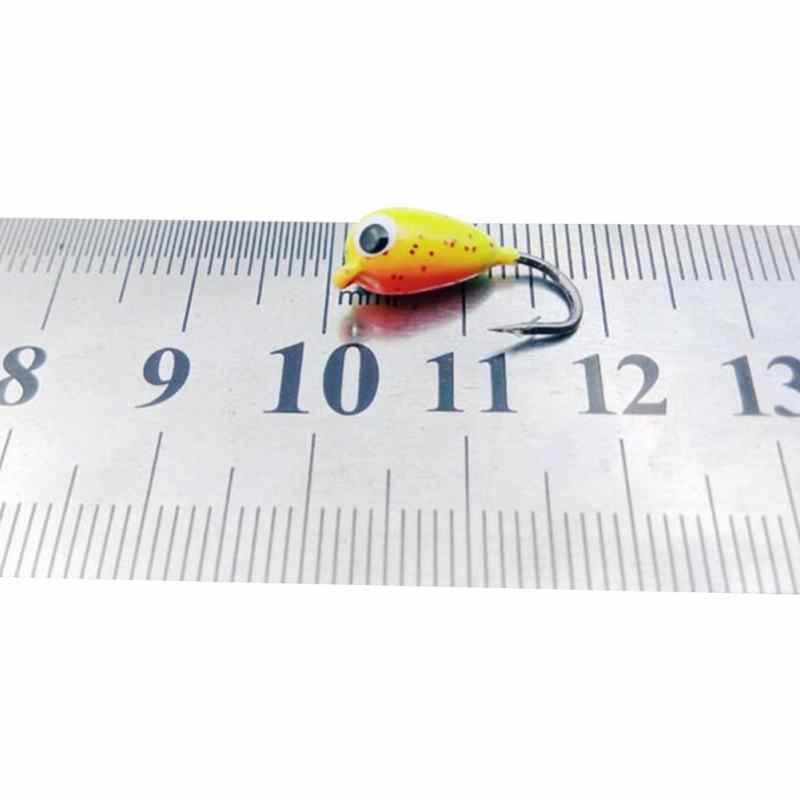 2017 NEW 6 Cái Mùa Đông Băng Câu Cá Móc 1.8 cm 2.3 gam Mini Kim Loại Chì Đầu Móc Mồi Cắt Chuyển Cá Móc thép gai