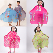 1pcs/Lot 28″x47″ Child Kid Hair Cutting Waterproof Cape Barber Styling Salon Hairdressing Wrap Cartoon Sheep Capes Cloth,5 Color