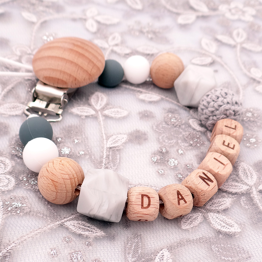 Wooden clip with engraving rainbow baby clip pacifier clip baby clip pacifier chain clip pendant clip for baby chain biting chain play chain
