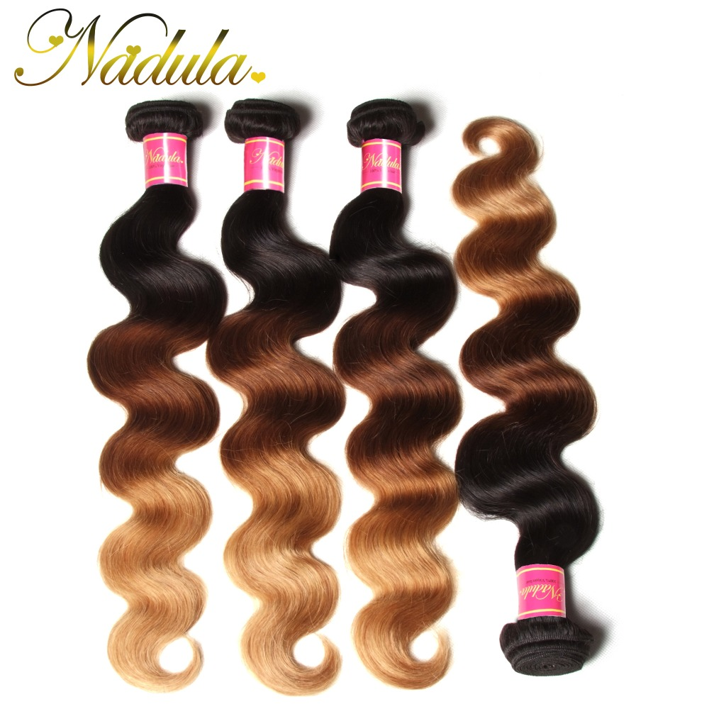 #1B/4/27 Peruvian Virgin Hair Body Wave Ombre Weave 4 Bundles Deals Ombre Hair Extensions Peruvian Body Wave Ombre Human Hair