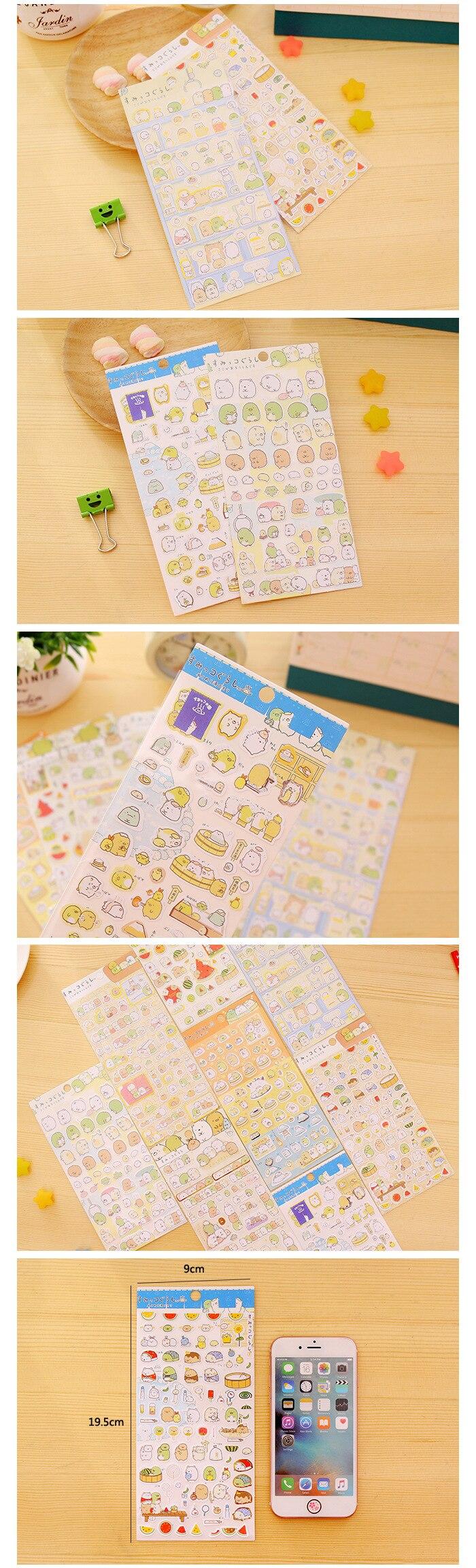 Adesivos criativos coreanos de papelaria, rolo redondo