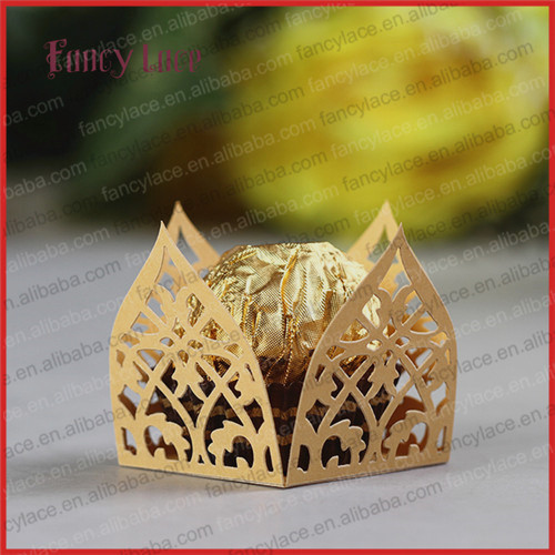 60pcs New Mini Laser Cut Paper Chocolate Wrappers For Wedding Table