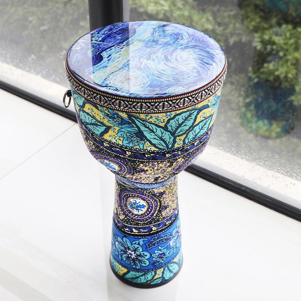 8 pouces coloré tissu Art ABS baril PVC peau enfants main tambour africain djembé tambour