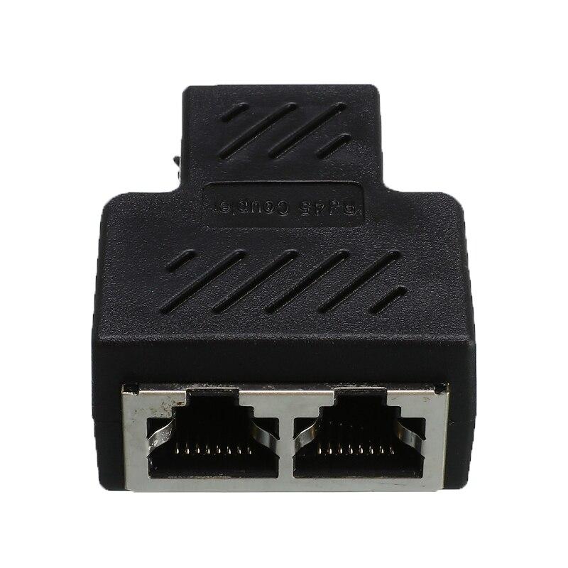 1 To 2 Network Splitter LAN Port Socket Splitter Connector Adapter Network Ethernet Head Lan Cable RJ45 CAT5 6 Extender Plug