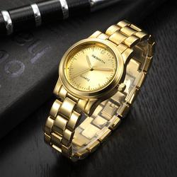 Простые Модные Нержавеющаясталь кварцевые наручные часы Для женщин Relogio Feminino Женское платье женские часы Для женщин золотые часы 2018