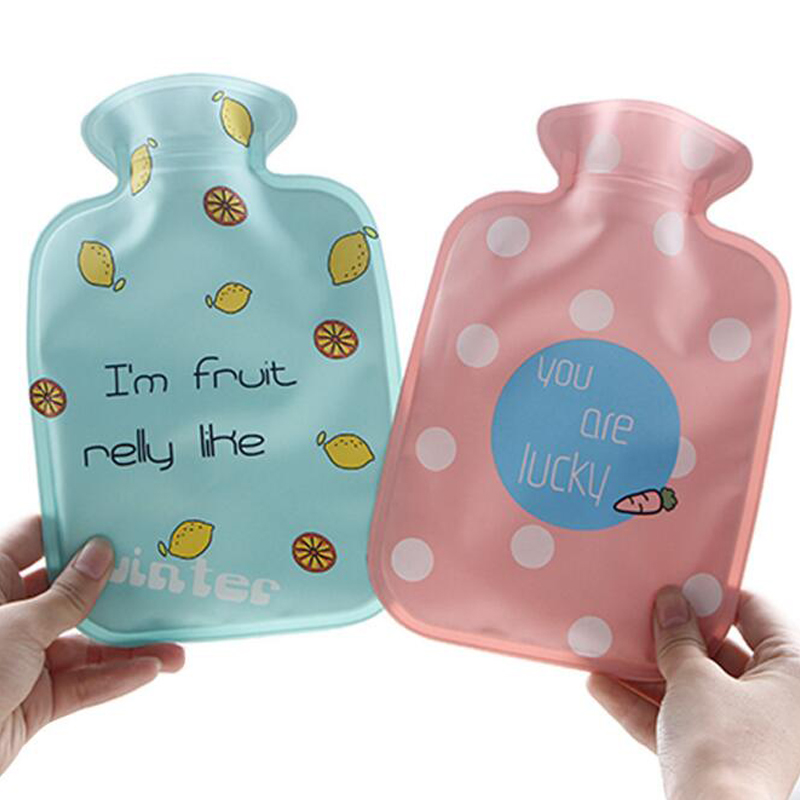 PVC Hot Water Bag Hot Water Filling Water Bottle Winter Hand Feet Warming Home Outdoor Warm Supplies warm water bag hot water bottle warm hand po warm bao water filling small mini cute thick pvc explosion proof
