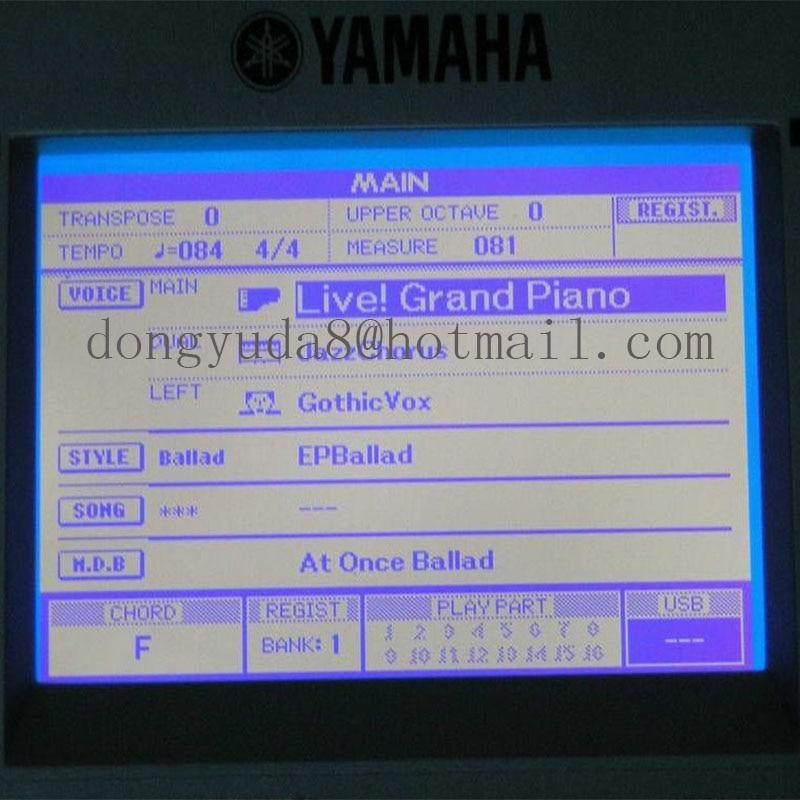 NEW Original lcd screen for yamaha psr s500 s550 s650 mm6 mm8 DGX520 DGX 620 DGX630