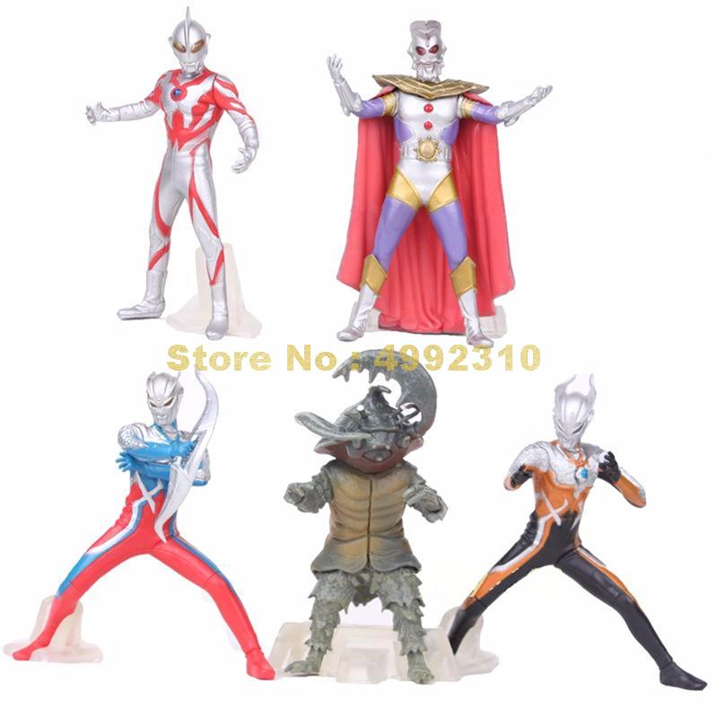 5pcs/set ultraman monster super man vs monster the 5th pvc action figure collection model toy 10~12cm ToyAction & Toy Figures   -