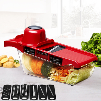 Mandoline Slicer Vegetable Cutter with Stainless Steel Blade