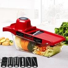 Cortador de verduras mandolina con cuchilla de acero inoxidable pelador de patatas pelador de zanahoria rallador de queso herramienta de cocina