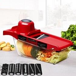 Mandoline Slicer Gemüse Cutter mit Edelstahl Klinge Manuelle Kartoffel Schäler Karotte Käse Reibe Dicer Küche Werkzeug