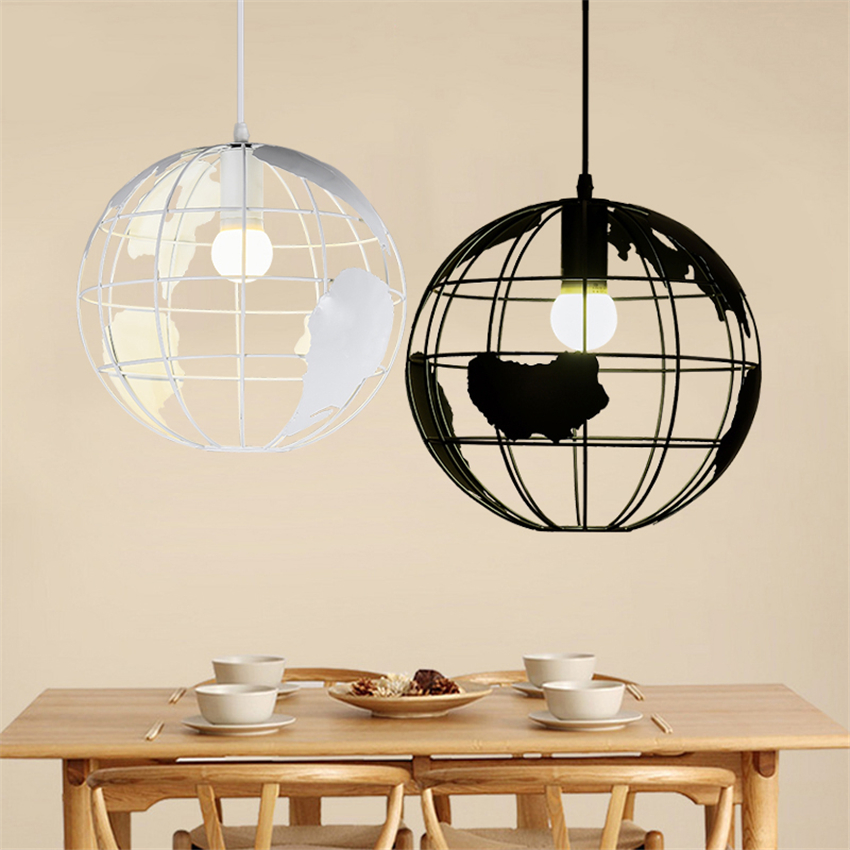 Modern Globe Chandelier LED Pendant Lamps Lampshade Kitchen Bar Dining Room Restaurant Coffee Shop Home Decoration Hanging Lamp
