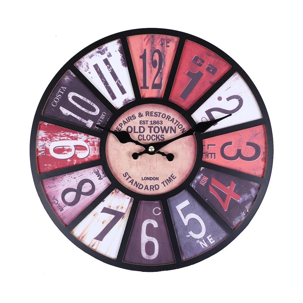 Creative en bois MDF 3D horloge murale décor ferme horloges murales grande livraison directe décorative Apr24