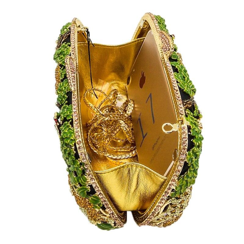 Sacs Dames Diamant De Femmes Mariée Crystal Partie Mariage Green Cristal 4 Bag green Sac Fgg Forêt Main 5 Jungle Boutique Tropicale Animal Soirée D'embrayage Bag À Zoo vCPwqw