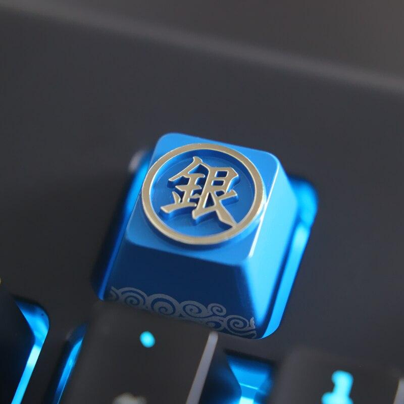 1 pcs Anime Gintama Zinc aluminum key cap mechanical keyboard keycaps for personalization for mechanical keyboard
