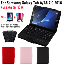 SM-T280 SM-T285 Cover Detach Bluetooth Keyboard Case for Samsung Galaxy Tab A A6 7.0 7 inch 2016 T280 T285 Case with Keyboard case for samsung galaxy tab a a6 7 0 inch 2016 sm t280 t285 7 0cover tablet cover slim stand leather protective case back shell