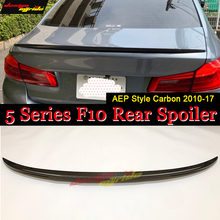 F10 Spoiler rear wing Carbon Fiber P Style Fits For BMW F10 5 series 520i 525i 528i 530i 535i 550i rear trunk Spoiler wing 10-17 стоимость