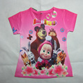 Summer Masha And Bear Fashion Baby Girls boys Cartoon T-shirt Children T Shirts For Kids Casual Short Sleeve Children Tees Tops