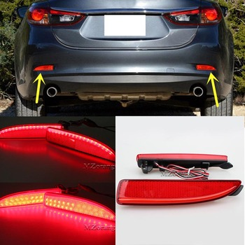 Red Rear Bumper Reflector Light For Mazda 6 Atenza 2013 2014 2015 2016 Car Styling LED Light Tail Brake Fog Lamp Tail Stop Lamp