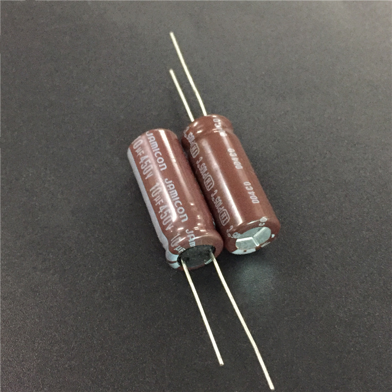 10pcs <font><b>10uF</b></font> <font><b>450V</b></font> JAMICON TH Series 10x25mm Low ESR Long Life 450V10uF Aluminum Electrolytic <font><b>Capacitor</b></font> image