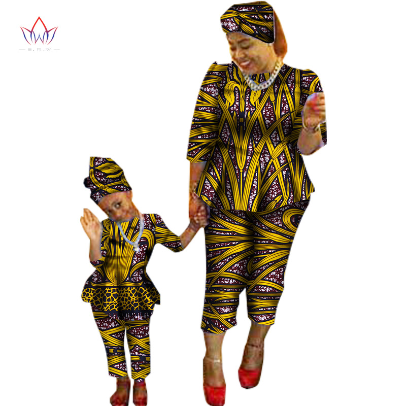 2017 Spring New Fashion Family Matching Clothes Brand Mother and Son Baby Family Clothing Sets Family african clothing BRWY1188 hoodie