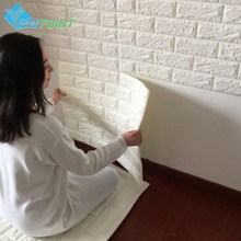 3D Waterproof Brick Wall Sticker TV Background DIY Decorative Stickers Kids Bedroom Living room Self Adhesive Wallpaper for Wall
