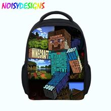 MineCraft Backpack for kids Cute School bag For children teenager student Orthopedic Mochila Drop shipping School Supplies Large