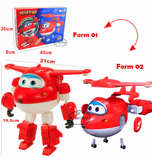 2016 New Arrival 19.5cm Super Wings Jett Assembling Blocks Toys 2 Forms Plane Robot Action Figures Kid Gift Educational Toy new arrival super wings plane base assembly building blocks educational diy models toys birthday christmas gift for kids