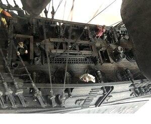 Image 4 - New black pearl Pirates ship wooden model kit 80cm length