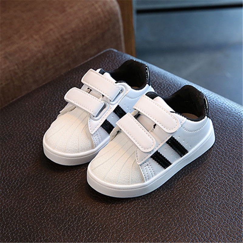 2018 Spring Children Shoes Boys Casual Shoes Brand Kids Shoes For Girls Baby PU Leather Breathable Flat Sneakers Toddler Shoes