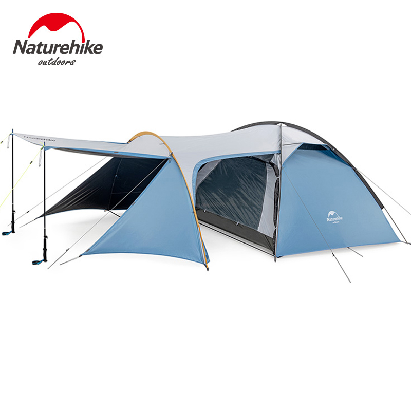 Nature randonnée chevalier famille Camping 3 personnes tente grand espace Double couche coupe-vent pluie 3 saison plein air tourisme tente NH19G001-Y