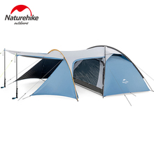 Naturehike Knight Family Camping 3 Person Tent Large Space Double Layer Windproof Rain Season Outdoor Tourism NH19G001-Y